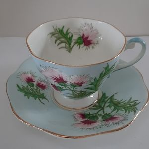 Foley Glengarry Thistle Cup/Saucer